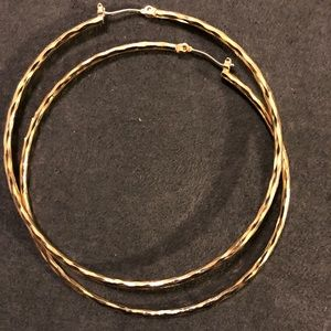 Sterling Silver/ Gold Plated hoops